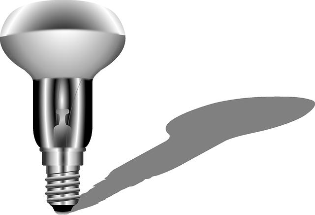 žárovka, stín