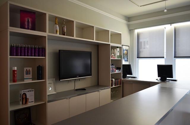 obývací stěna, televize