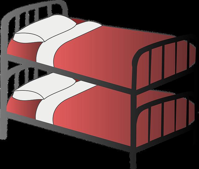 patrová postel červená