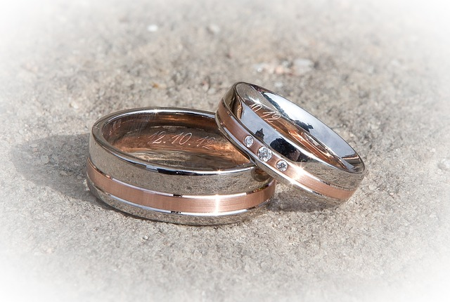 snubní prsteny, datum svatby