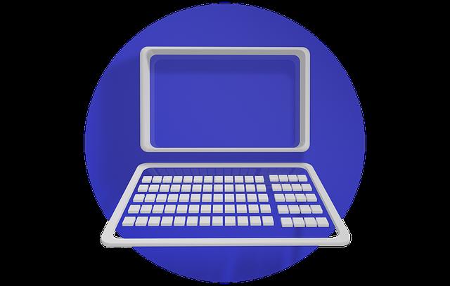 notebook, modré kolo