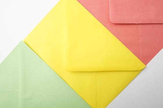 obálky barevné