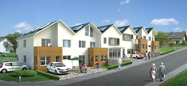projekt řadových domů