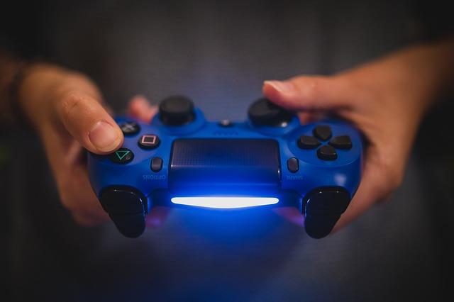 modrý ovladač