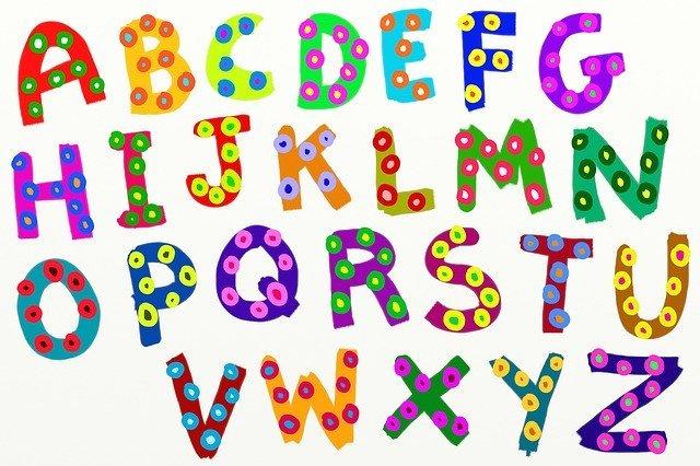 písmena abecedy